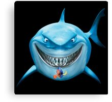 Blue Shark Attack Canvas Print
