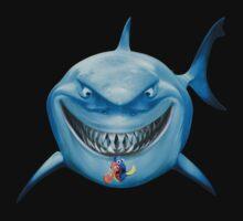 Blue Shark Attack One Piece - Long Sleeve