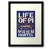 Life of Pi - Book Cover Design Framed Print