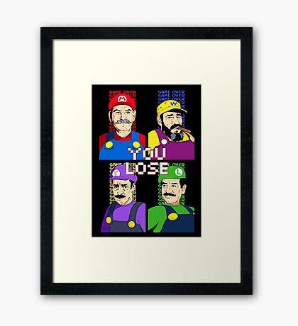 You Lose! Framed Print
