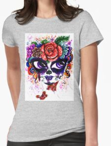 Sugar Girl in Flower Crown 3 Womens Fitted T-Shirt