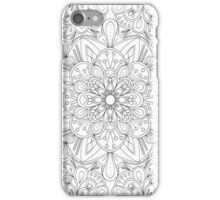 Floral Colouring Pattern iPhone Case/Skin