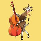 Cool Okapi Playing a Double Bass by Zoo-co