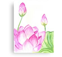 Lotus Flower Watercolor 2 Canvas Print