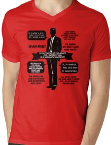 Chandler Bing Quotes. Friends. Mens V-Neck T-Shirt
