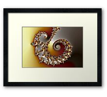 Touches of Green and Pink Framed Print