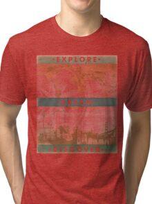Explore. Dream. Discover. Inspiration for the keen traveler. Tri-blend T-Shirt