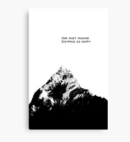 One Must Imagine Sisyphus as Happy Canvas Print