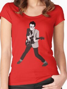 Elvis Costello Print Women's Fitted Scoop T-Shirt