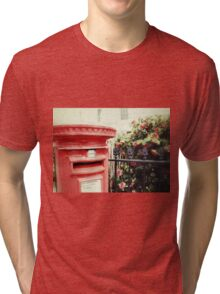 Postbox and Camellias Tri-blend T-Shirt