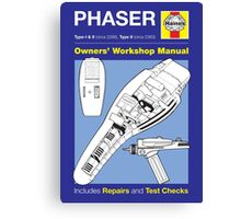Haines Manual - Phaser - Poster & stickers Canvas Print