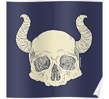 Skull and horns Poster