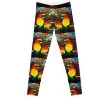 Mirror gold kingfishers Leggings