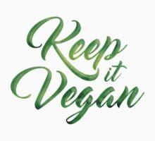 Keep it Vegan 01 - Happy quote Baby Tee