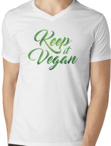 Keep it Vegan 01 - Happy quote Mens V-Neck T-Shirt