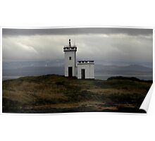 Glowering sky at Elie Ness Lighthouse Poster