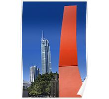 Q1 Red - Surfers Paradise Poster