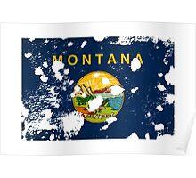 Montana Splatter Poster
