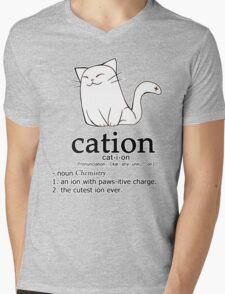 Cat-ion science puns Mens V-Neck T-Shirt
