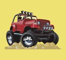 Cartoon Jeep Wrangler Kids Tee