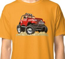 Cartoon Jeep Wrangler Classic T-Shirt
