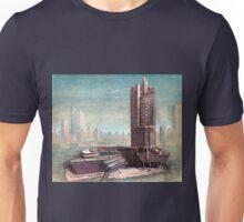 Vintage Singapore Architectural Drawing Unisex T-Shirt