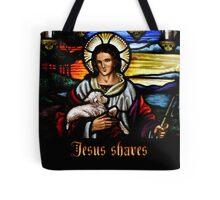 Jesus (saves) Shaves 2 Tote Bag