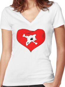 cubone loves mommy Women's Fitted V-Neck T-Shirt