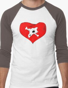 cubone loves mommy Men's Baseball ¾ T-Shirt