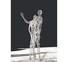 Silver Statues Photographic Print