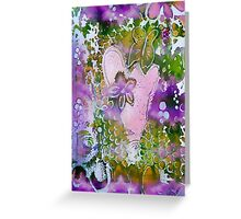 Lavender Hearts and Butterfly Greeting Card