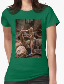 Morocco. Fes. Fes el Bali. Tanneries. Workman. Womens Fitted T-Shirt