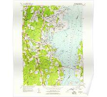 USGS TOPO Map Rhode Island RI Wickford 353374 1957 24000 Poster