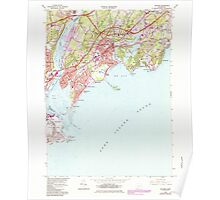 USGS TOPO Map Connecticut CT Milford 330664 1984 24000 Poster