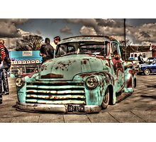 Rusty Chevrolet HDR Photographic Print