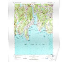 USGS TOPO Map Connecticut CT Niantic 330750 1958 24000 Poster