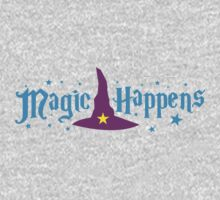 Magic Happens with witches hat One Piece - Short Sleeve