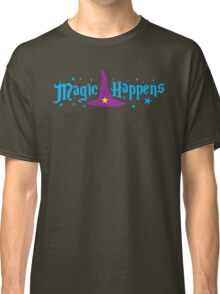Magic Happens with witches hat Classic T-Shirt
