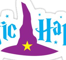 Magic Happens with witches hat Sticker