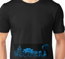 Liverpool Landmarks Montage Blue and Black Unisex T-Shirt