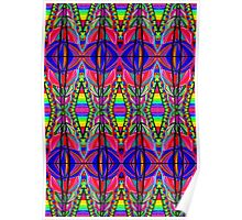 Psychedelic Abstract colourful work 164 Poster