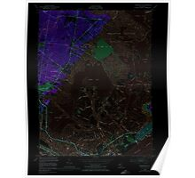 USGS TOPO Map New Jersey NJ Oceanville 254670 1952 24000 Inverted Poster