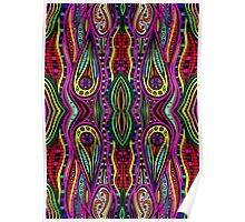 Psychedelic Abstract colourful work 163 Poster