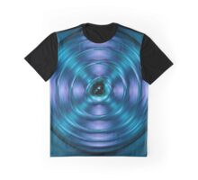 Blue spinning atom Graphic T-Shirt
