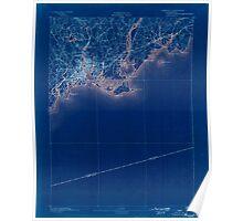 USGS TOPO Map Connecticut CT Bridgeport 330980 1893 62500 Inverted Poster