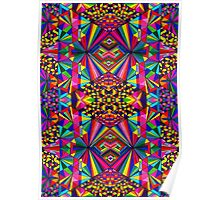 Psychedelic Abstract colourful work 162 Poster
