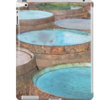 Painted whisky whiskey cask casks barrel barrels ends iPad Case/Skin