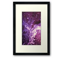 Purple Galaxy 2 Framed Print