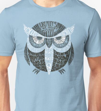 Wise Old Owl Says (in Green) Unisex T-Shirt