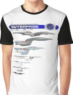 U.S.S. Enterprise Lineage Graphic T-Shirt
